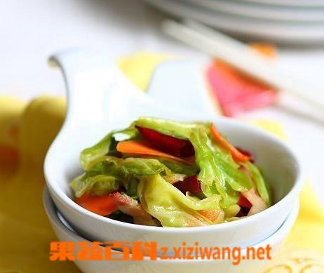 果蔬百科酸辣包菜的做法步骤教程